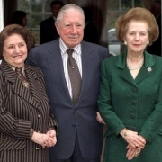 pinochet with lucia hiriart and margaret thatcher